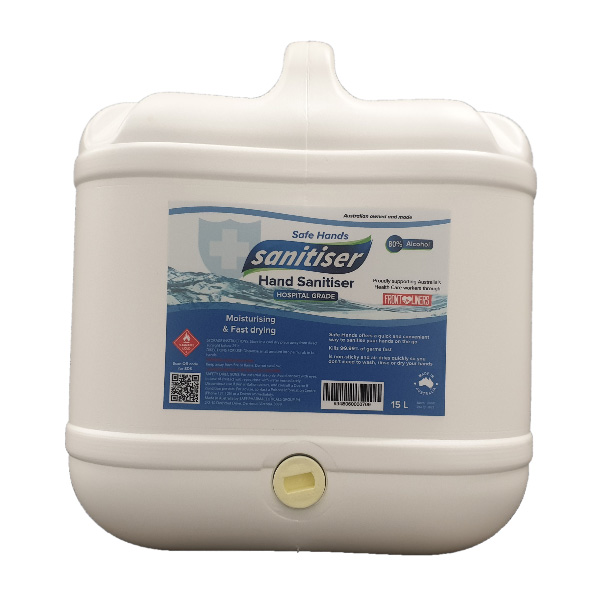 15 litre drum of hospital grade hand snaitiser